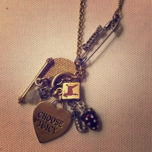 Juicy Couture necklace with charms
